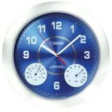 Control Company Time, Temperature, and Humidity Analog Wall Clock with Calibration