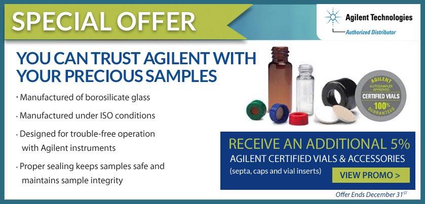 Agilent Certified Vials & Accessories Promo