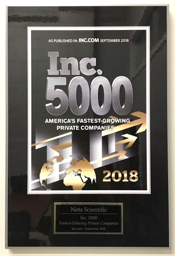 Neta Scientific has been honored by Inc. Magazine for the Inc. 5000